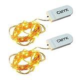 CMYK® 2 Stück 30er LED-Lichterkette warm-weiß Innen Micro...
