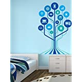 WALLMANTRA The Technology Tree Wall Decal Wall Sticker : Size XL(27x42) Inches