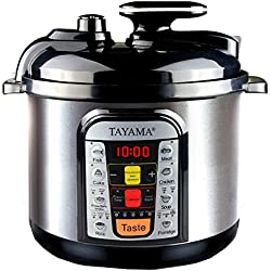 Tayama TCUI9 B8 5-Liter Electric Pressure Cooker (Black)