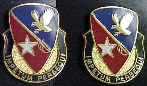 21st Cavalry BDE Distinctive Unit Insignia - Pair (IMPETUM PERSEQUI)