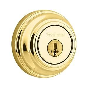 Kwikset 980 Single Cylinder Deadbolt featuring SmartKey® in Polished Brass