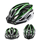Ezyoutdoor Mountain Road Bicycle Helmets Ultralight 18 Vents Cycling Helmet with Visor with Removable Antibacterial Pads for Adult (Green)