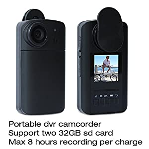 Conbrov (Tm) Hd90 720P HD Cam Mini Pocket Video Security Camera body worn wearable camera DVR Video Recorder Travel Smart digital camcorders with Two Wearable Clips 1.5' LCD Screen 1600mah Rechargeable Battery Recording device DV for Max 8 Hours Sports Ca