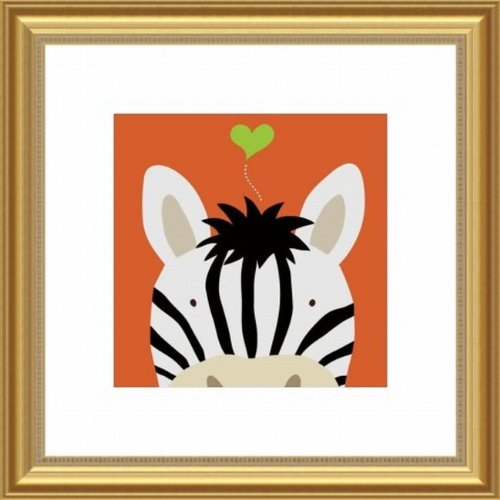 Barewalls Wall Decor, Peek-a-Boo Zebra