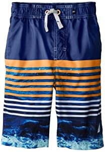 Nautica Boys 8-20 Tie-Dyed Stripe Swim Trunk from Nautica