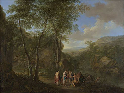 [The Perfect effect canvas of oil painting 'Jan Both and Cornelis van Poelenburgh A Landscape with the Judgement of Paris ' ,size: 18 x 24 inch / 46 x 61 cm ,this Beautiful Art Decorative Prints on Canvas is fit for Home Theater decor and Home artwork and] (Trailer Trash Outfits)