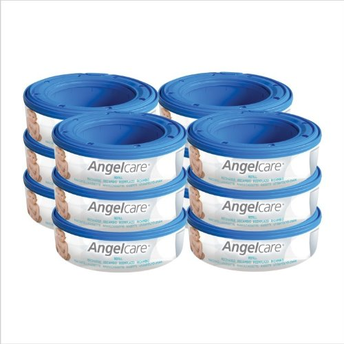 12 X Angelcare Nappy Disposal System Refill Cassettes Wrappers Bags Sacks Pack Best Quality Fast Shipping Ship Worldwide front-288310