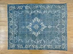 10\'x12\' Overdyed Persian Tabriz Barjasta Handmade Oriental Rug G25087