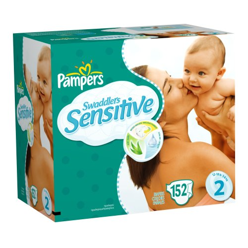 Pampers Swaddlers Sensitive Diapers, Size 2, 152-Count Reviews