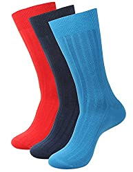 Balenzia Men's Crew Length Socks (Pack Of 3) (Jagmini88_Multi)