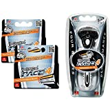 Dorco Pace 4- Four Blade Razor Shaving System- Value Pack (10 Cartridges + 1 Handle)