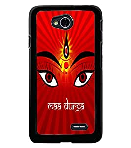 Fuson Premium Maa Durga Metal Printed with Hard Plastic Back Case Cover for LG L70