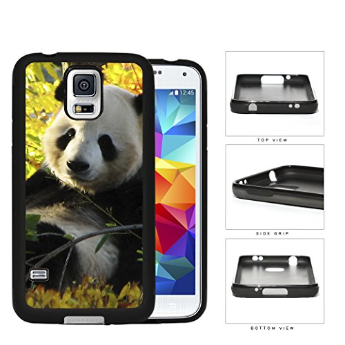 Cute Baby Panda In The Field Rubber Silicone Tpu Cell Phone Case Samsung Galaxy S5 Sm-G900