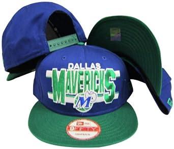 Dallas Mavericks Blue Green Two Tone Plastic Snapback Adjustable Plastic Snap Back... by New Era