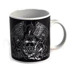 Freddie Mercury & Queen Crest logo mug