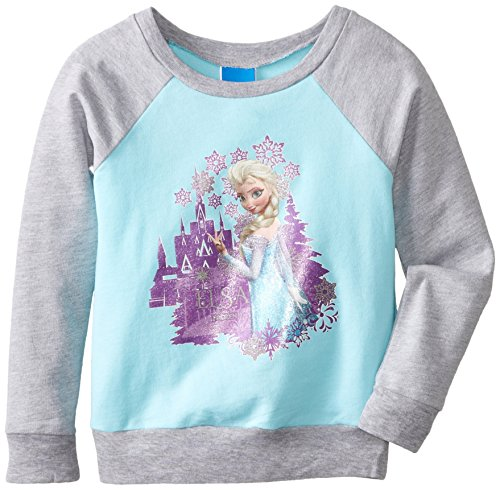 Disney Little Girls' FROZEN Aqua Long-Sleeve Sweatshirt