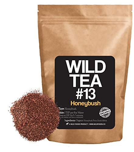 Organic Honeybush Tea from South Africa, Wild Tea #13 Premium Honeybush Herbal Red Tea (8 ounce) (Bush Beans 8 Oz compare prices)