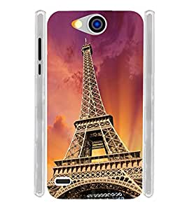 Eiffel Tower on Sky Soft Silicon Rubberized Back Case Cover for Xolo Prime