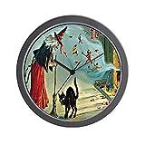 "CafePress - Vintage Halloween Witch Black Cat Wall Clock - Unique Decorative 10"" Wall Clock"