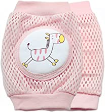New Kid Baby Mesh Crawling Knee Pads Toddler Elbow Pads Summer Style 805683 Zebra Pink