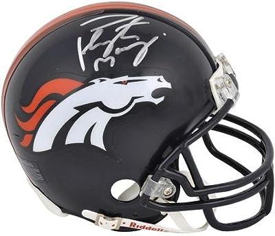 Denver Broncos Peyton Manning Autographed Mini Helmet - Fanatics Authentic Certified - Autographed NFL Mini Helmets