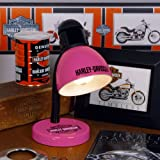 Pack of 2 Officially Licensed Harley Davidson Pink Desk Lamps