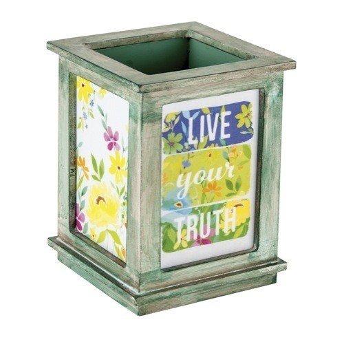 Santa Barbara Design Studios Stephanie Ryan Rectangular Wooden Pencil Box, Live Your Truth