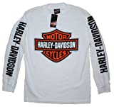 House of Harley Men's Bar & Shield Logo T-Shirt-LIMITED EDITION. All Cotton. Harley-Davidson Graphics. White. 302900320