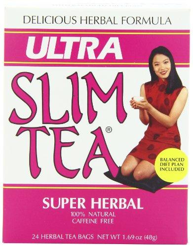 Ultra Slim Tea, Super Herbal, Tea Bags, 24 Count Box