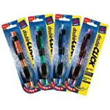 Avery doubleCLICK Multifunction Pen, Assorted Barrel Colors, Black Ink, 1 Pen (49817)