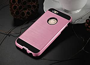 ikazen Shockproof Hybrid Shell Metal finish TPU Back Case Cover for Iphone 6 6s - Rose Gold