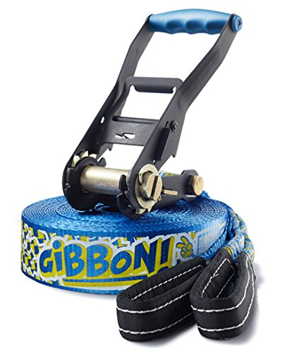 Gibbon, Set Slackline Fun X13, Blu (blau), Taglia unica