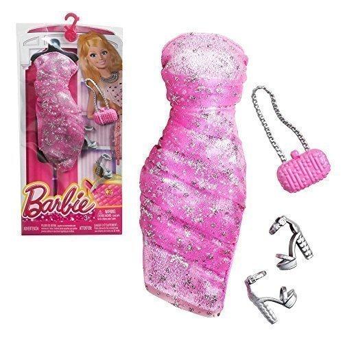 Barbie Trend Mode Fashionistas rosa Kleid mit Tüll und Glitter