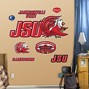 Jacksonville State University Logo Wall Decal 51 x 21 in - Wall