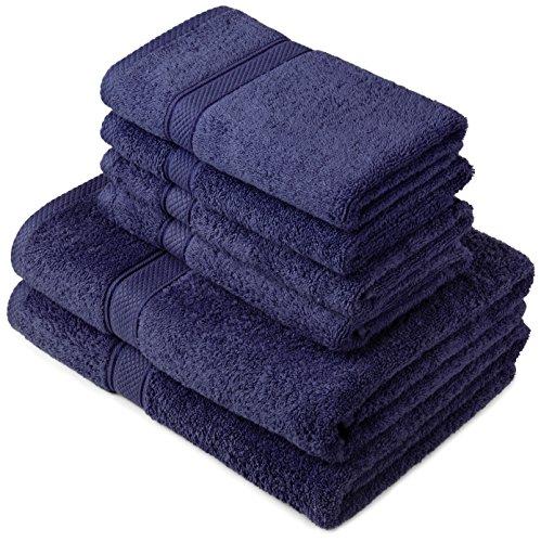pinzon-by-amazon-juego-de-toallas-de-algodon-egipcio-2-toallas-de-bano-y-4-toallas-de-manos-color-az