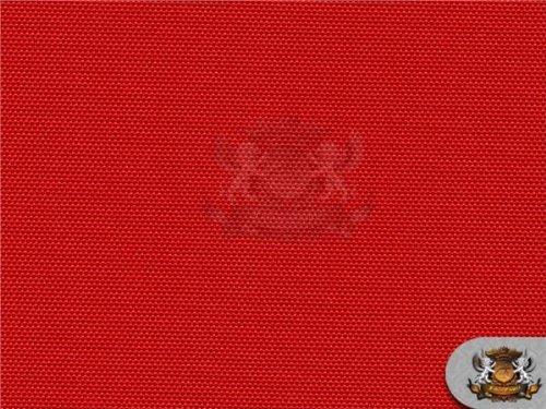 Waterproof Canvas Solid RED Indoor Outdoor Fabric / 60
