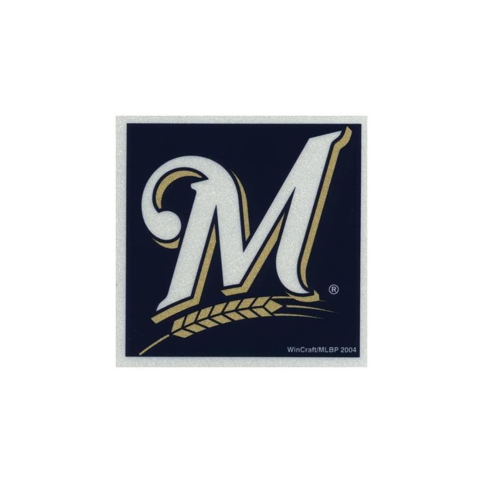 Milwaukee Brewers   Logo Reflective Decal   Sticker MLB Pro Baseball