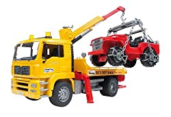 Bruder 2750 MAN TGA Breakdown-Truck with Cross Country Vehicle