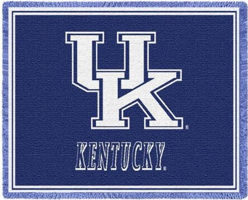 University Of Kentucky Wildcats Uk Throw Blanket Woven Afghan Tapestry 69 X 48