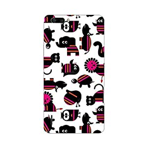 Garmor Designer Plastic Back Cover For Huawei Honor 4C