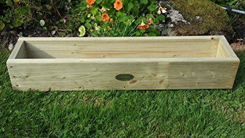 Ponte in legno vasi fioriera Scatole a mano vaso di legno, 120cm trattato a pressione. Un vaso da giardino in legno