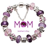 Mutter & Tochter Bead Charm Bracelets fit pandora