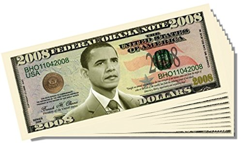 Barack Obama 2008 Federal Reserve Note - 25 Count with Bonus Clear Protector & Christopher Columbus Bill