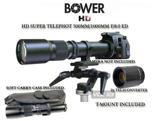Bower 500Mm/1000Mm Telephoto Lens For Nikon D7000 D5200 D5000 D5100 D90 D80 D70 D60 D40 D40X D3S D300S D3000 D3200 D5200 D3X
