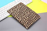 Borch Fashion Luxury Multi-function Leopard Grain Protective Light-weight Folding Flip Smart Case Cover for Ipad 2 3 4 (Brown)