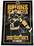 Brad Marchand Bruins Bruins signed Stanley Cup playoffs game 4 poster