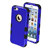 Product B00M7KAYDY - Product title MYBAT Rubberized Tuff Hybrid Protector Case for iPhone 6 - Retail Packaging - Dark Blue/Black