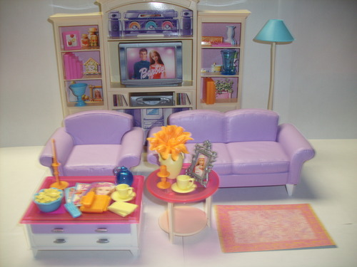 Barbie Bedroom In A Box: Amazon.com: Barbie Decor Collection Living Room Playset