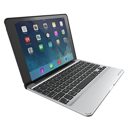 Zagg Slim Book Umklappbar Case mit Abnehmbarer Beleuchteter Tastatur für Apple iPad mini (Deutsches Tastaturlayout) schwarz