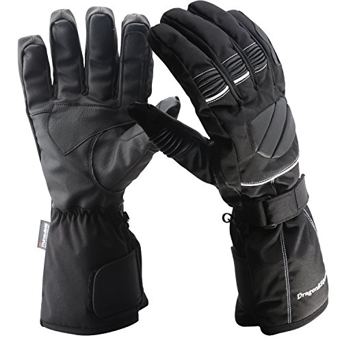 Men's Thinsulate Ski,Snowboard Gloves - Waterproof Leather Padding Warmest ,Water Proof Full Finger Glove, Best Warm for Winter Cold Weather Sports - Snowmobile,Skiing,Snow.(Black A, Large)